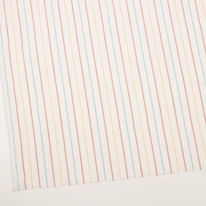 コットン×ストライプ(サンフラワー、レンガ&サックス)×からみ織ボイル イメージ2