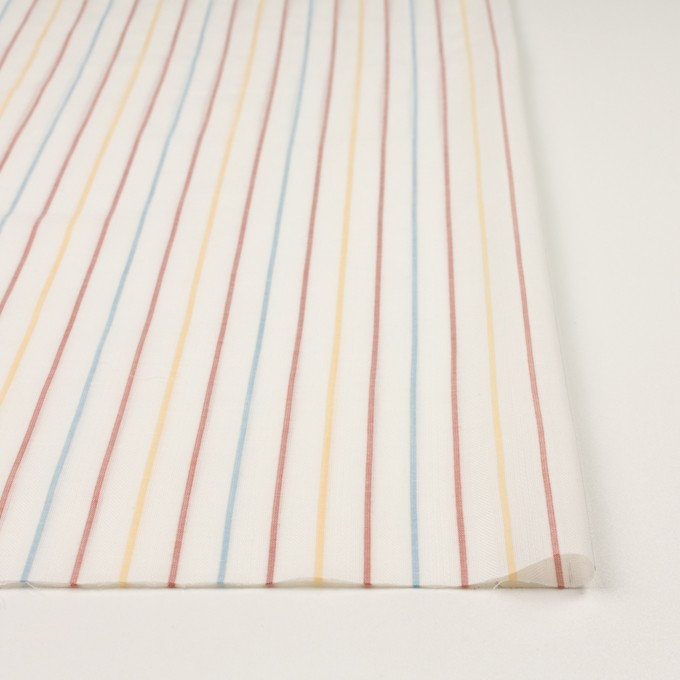 コットン×ストライプ(サンフラワー、レンガ&サックス)×からみ織ボイル イメージ3