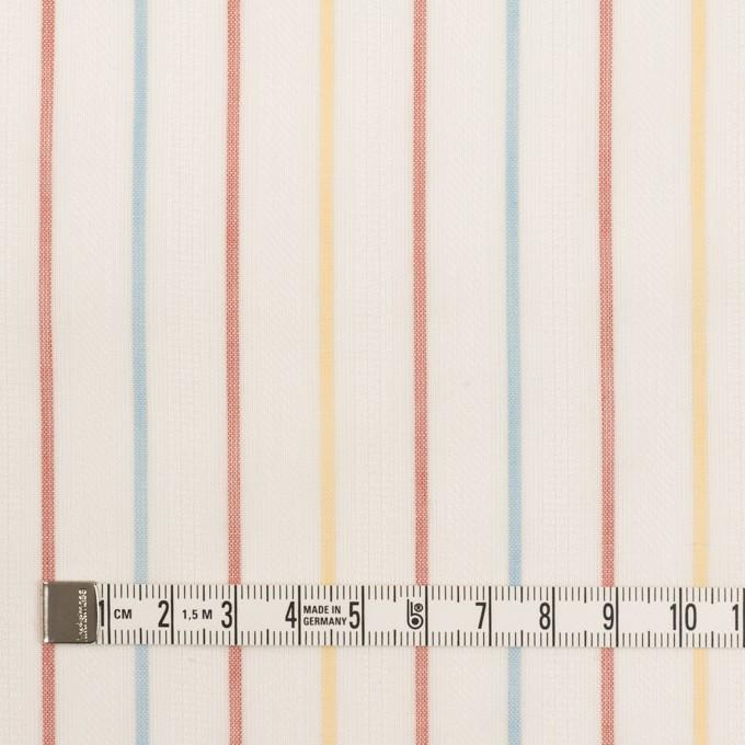 コットン×ストライプ(サンフラワー、レンガ&サックス)×からみ織ボイル イメージ4