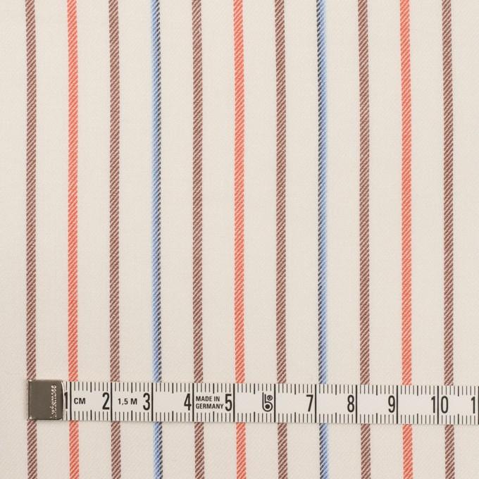 コットン×ストライプ(オレンジ、モカ&ブルー)×サージ イメージ4