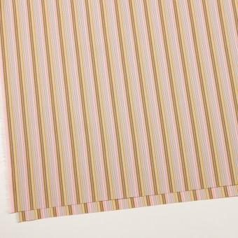 コットン×ストライプ(カフェオレ、ピンク&サックスグレー)×ブロード サムネイル2