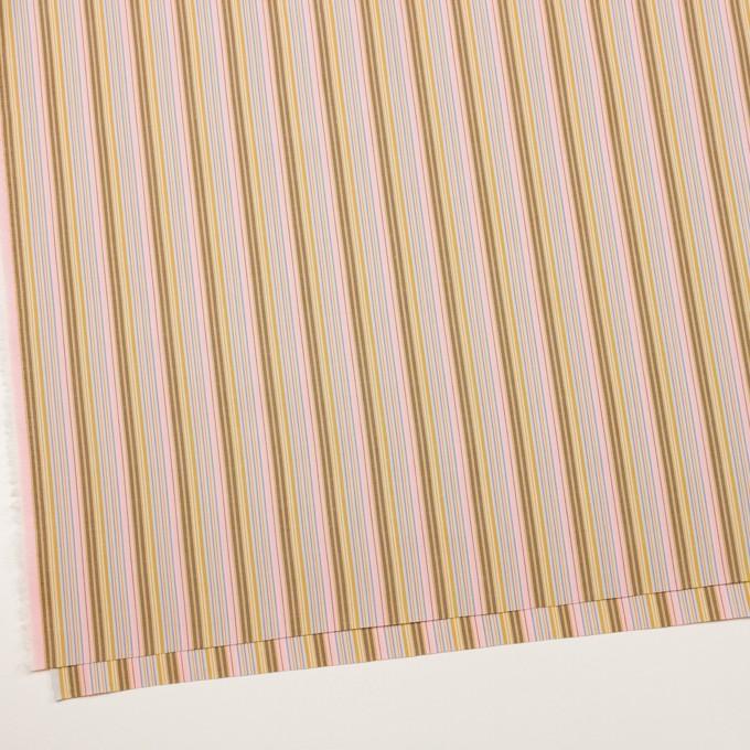 コットン×ストライプ(カフェオレ、ピンク&サックスグレー)×ブロード イメージ2