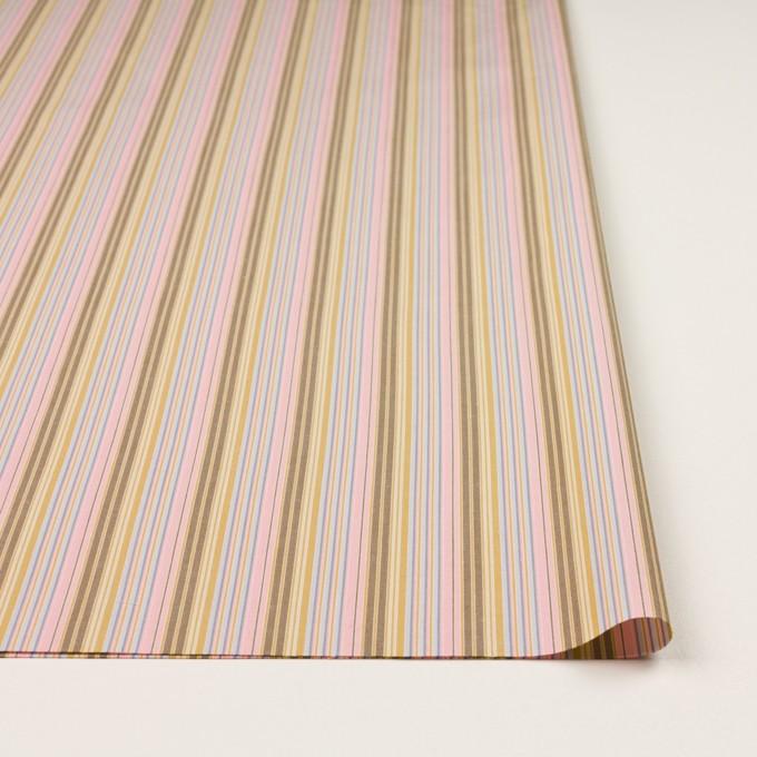 コットン×ストライプ(カフェオレ、ピンク&サックスグレー)×ブロード イメージ3