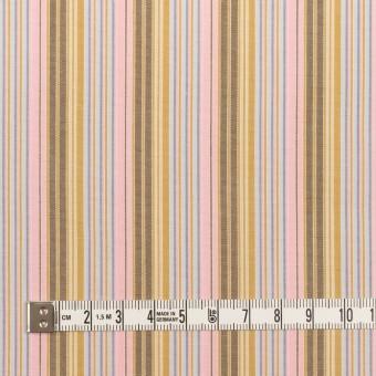 コットン×ストライプ(カフェオレ、ピンク&サックスグレー)×ブロード サムネイル4