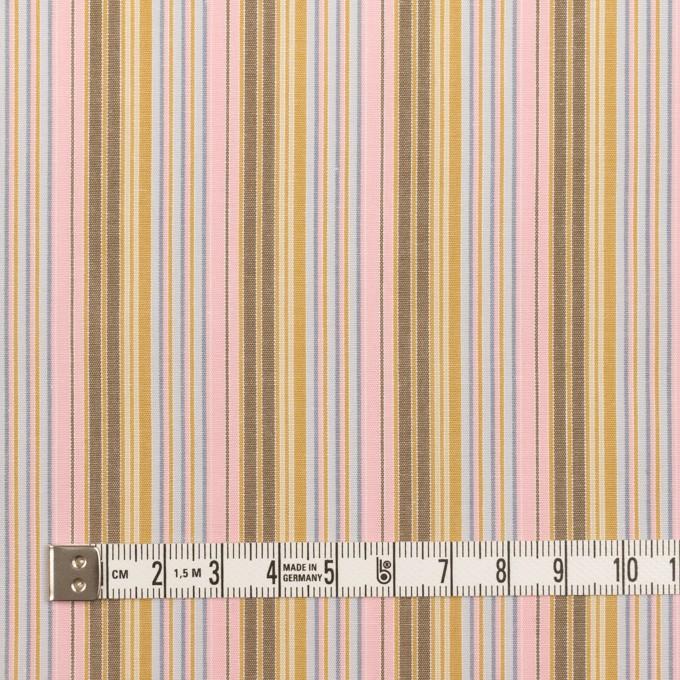 コットン×ストライプ(カフェオレ、ピンク&サックスグレー)×ブロード イメージ4