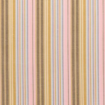 コットン×ストライプ(カフェオレ、ピンク&サックスグレー)×ブロード サムネイル1