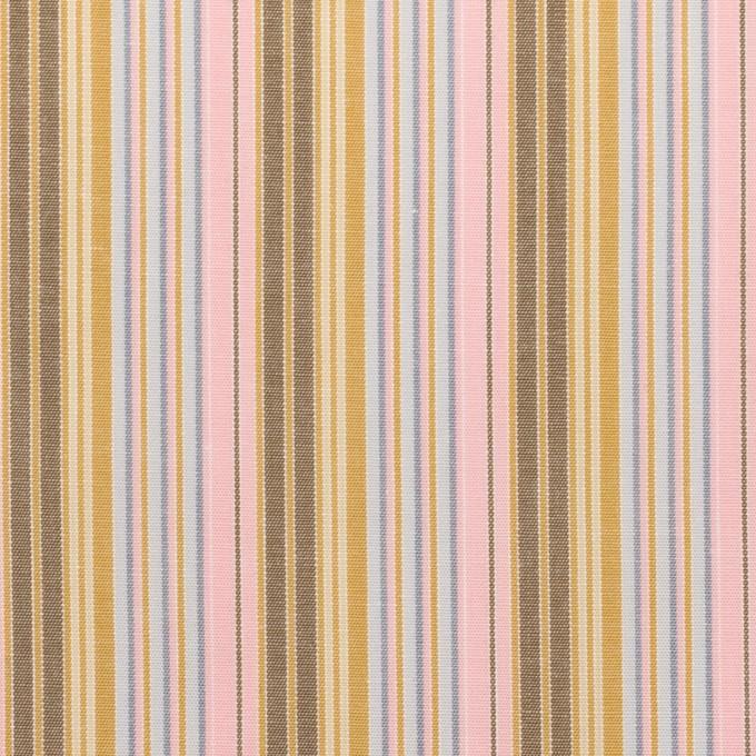 コットン×ストライプ(カフェオレ、ピンク&サックスグレー)×ブロード イメージ1