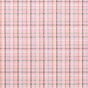 コットン×チェック(ピンク)×ブロードジャガード