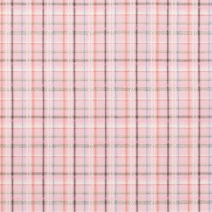 コットン×チェック(ピンク)×ブロードジャガード イメージ1