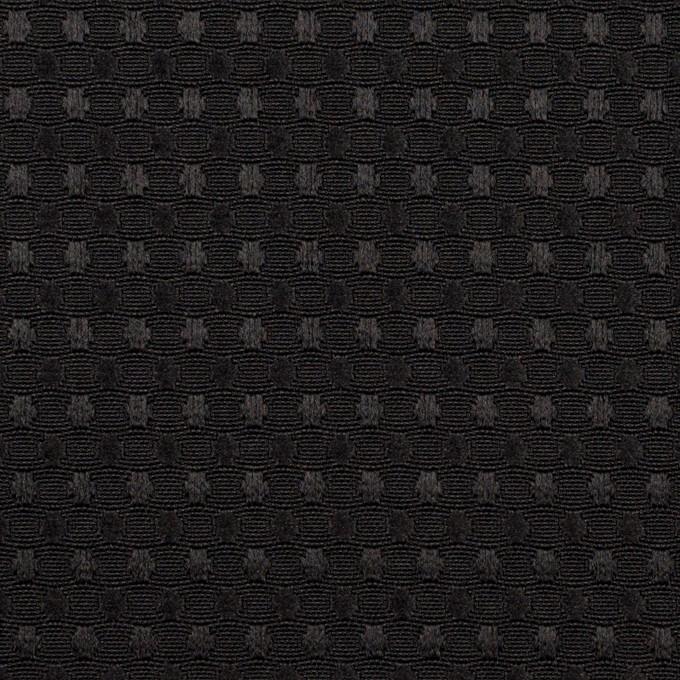 ポリエステル×ドット(ブラック)×ジャガード イメージ1