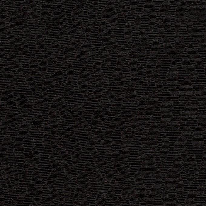 シルク×幾何学模様(ブラック)×フクレジャガード イメージ1