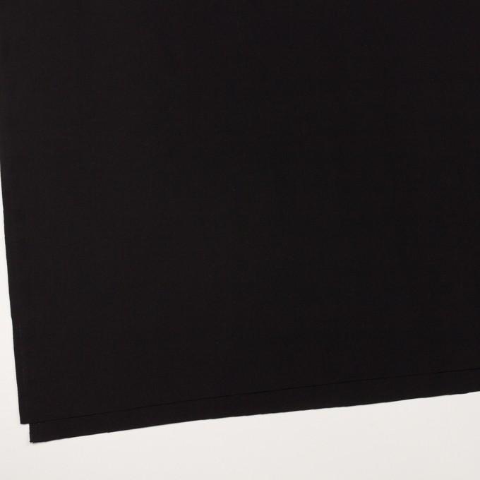 コットン&シルク×無地(ブラック)×グログラン イメージ2