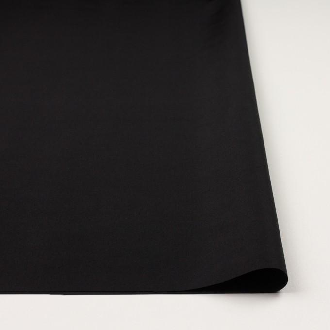 コットン&シルク×無地(ブラック)×グログラン イメージ3