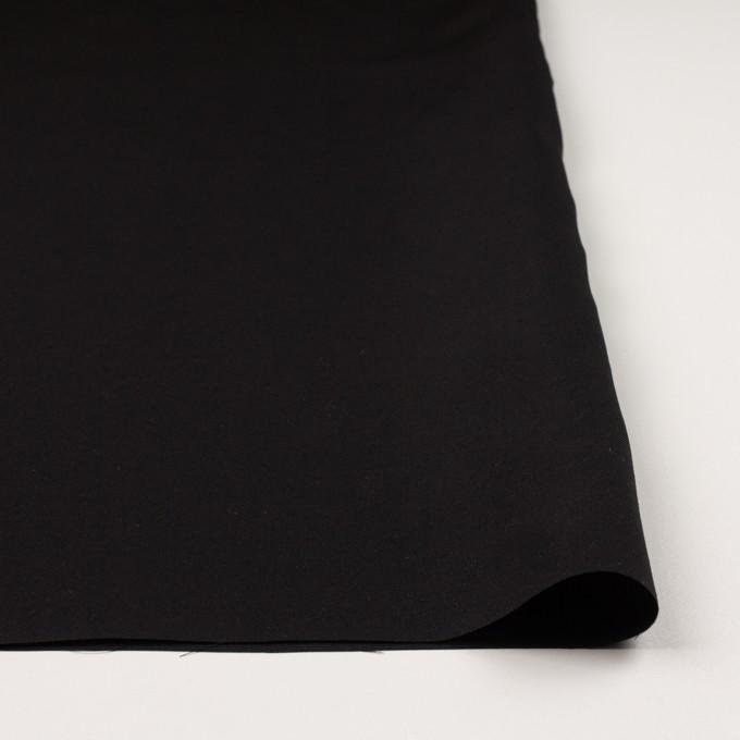 キュプラ&シルク×無地(ブラック)×二重織 イメージ3
