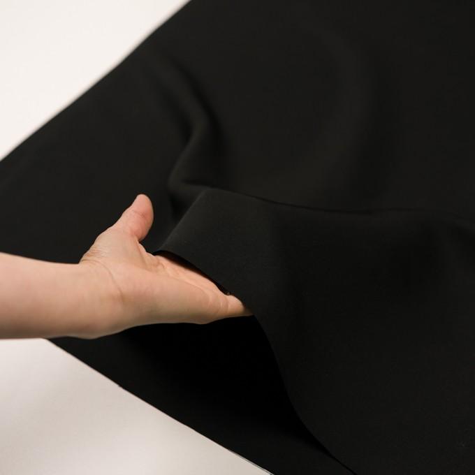キュプラ&シルク×無地(ブラック)×二重織 イメージ5