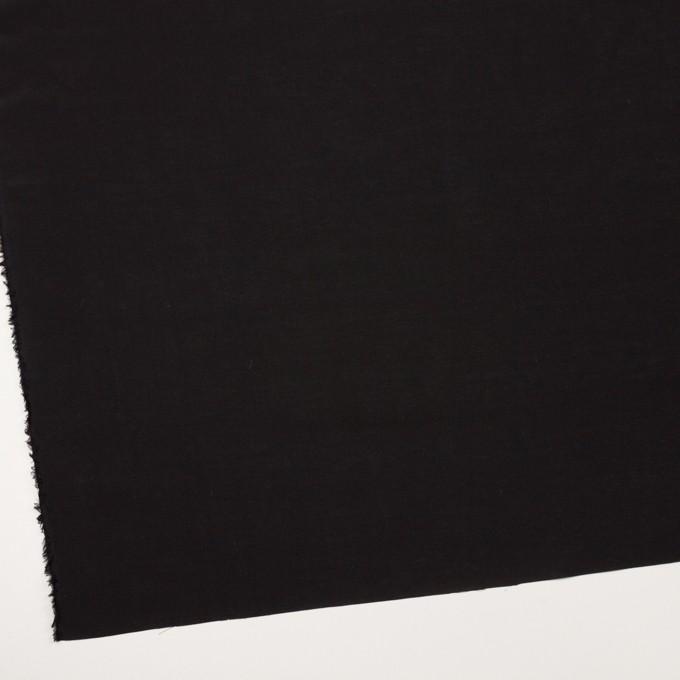コットン&シルク混×無地(ブラック)×ローン イメージ2