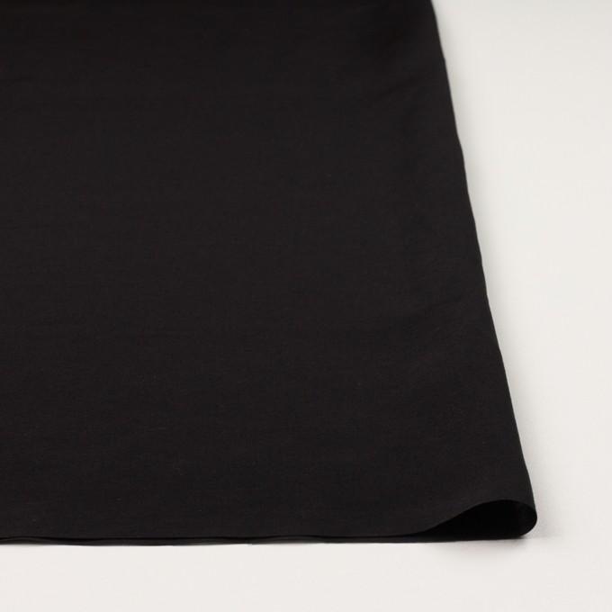 コットン&シルク混×無地(ブラック)×ローン イメージ3