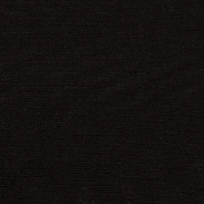 コットン&シルク混×無地(ブラック)×ローン イメージ1