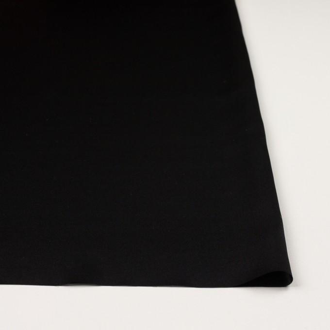 シルク×無地(ブラック)×サテン イメージ3