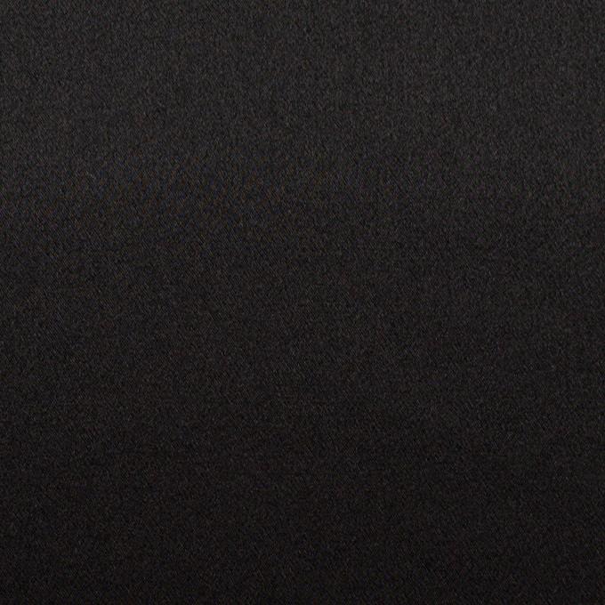 シルク×無地(ブラック)×サテン イメージ1