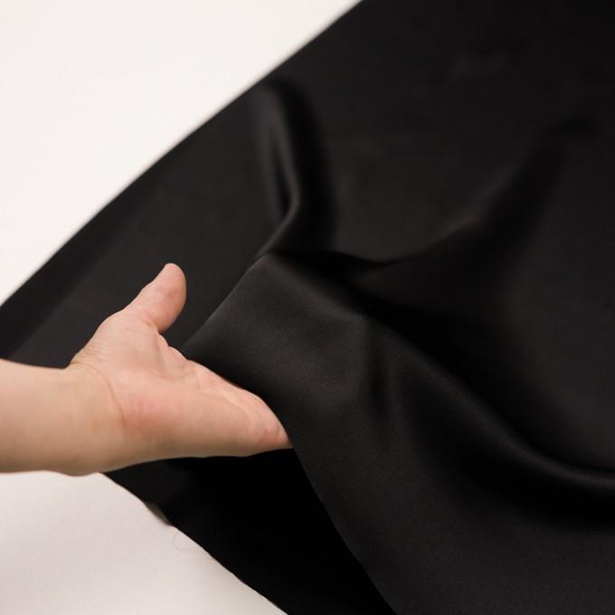 シルク×無地(ブラック)×サテン イメージ5