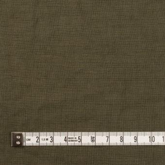 リネン×無地(カーキグリーン)×薄キャンバス_全30色 サムネイル4