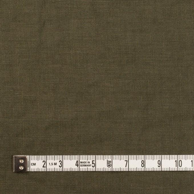 リネン×無地(カーキグリーン)×薄キャンバス_全30色 イメージ4