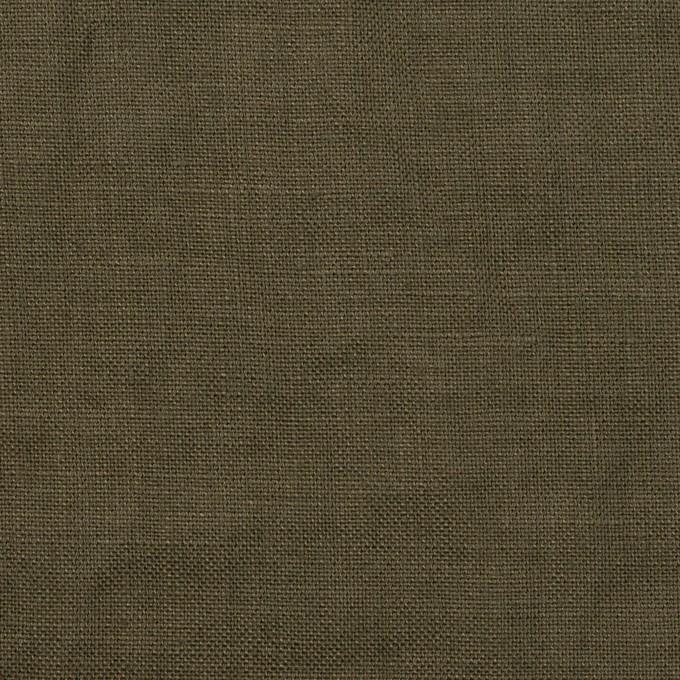 リネン×無地(カーキグリーン)×薄キャンバス_全30色 イメージ1