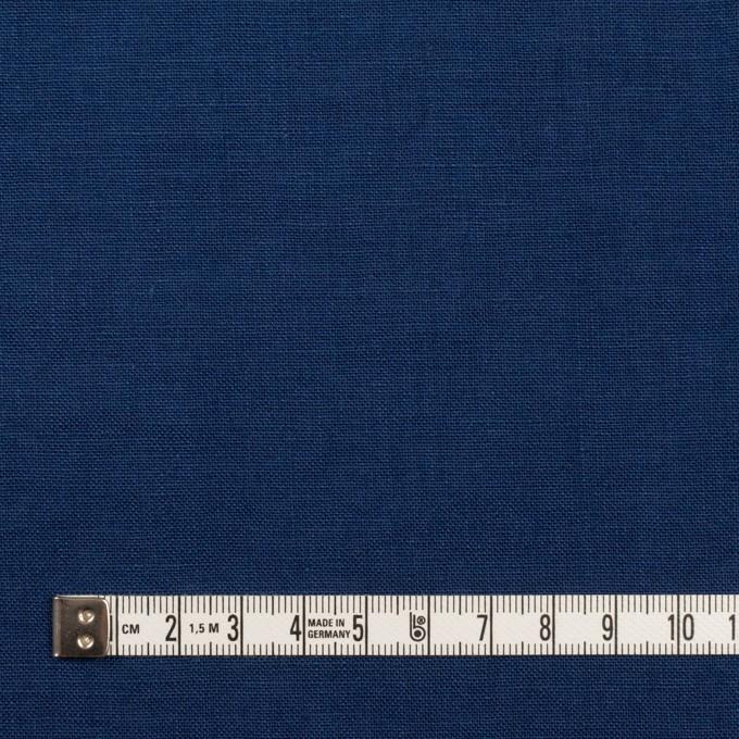 リネン×無地(プルシアンブルー)×薄キャンバス_全30色 イメージ4