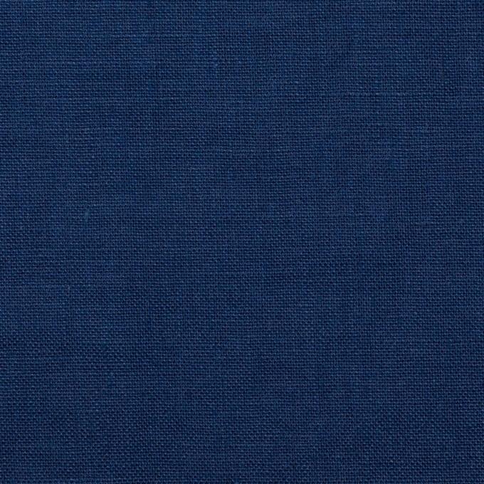 リネン×無地(プルシアンブルー)×薄キャンバス_全30色 イメージ1