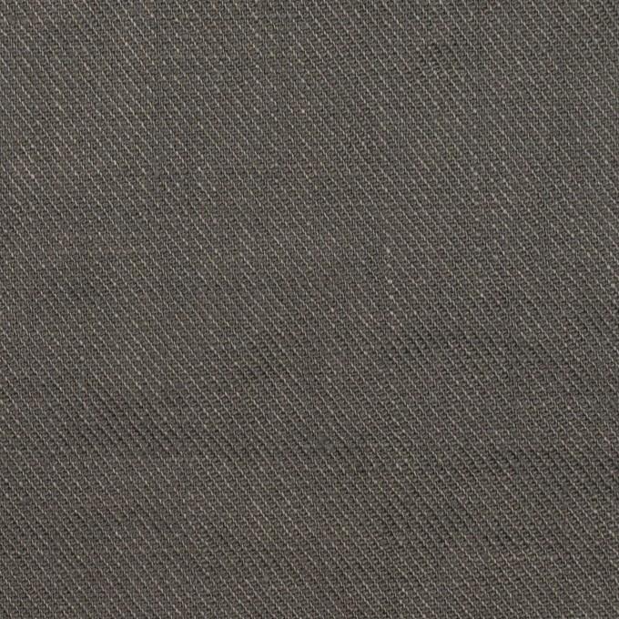リネン×無地(チャコールグレー)×サージ_全22色 イメージ1