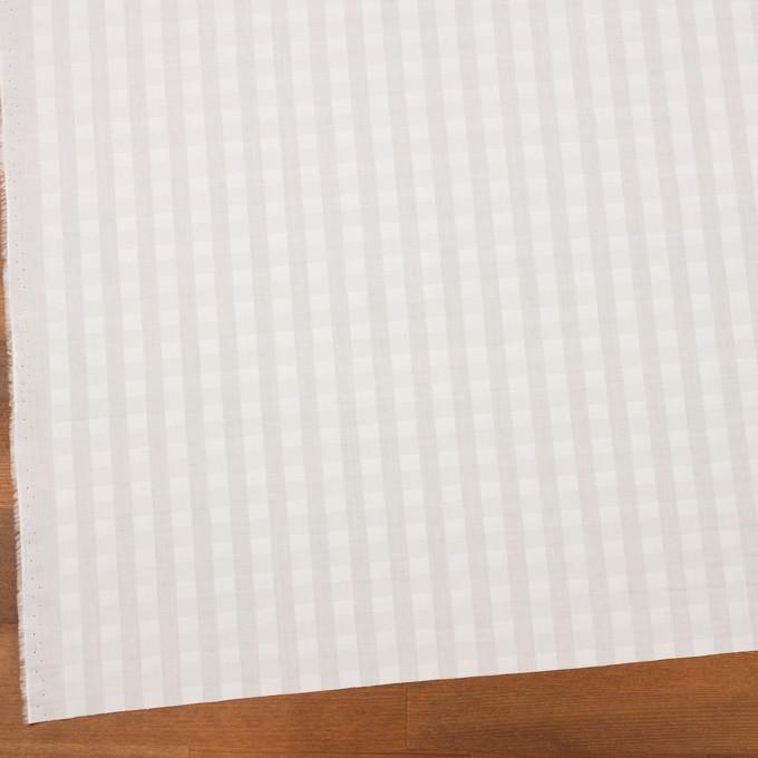 コットン×チェック(オフホワイト)×ローンジャガード イメージ2
