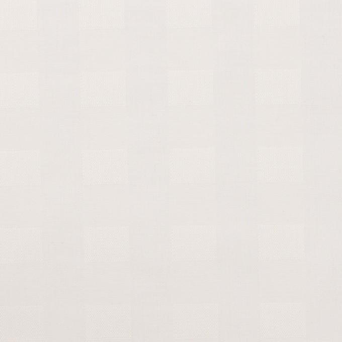 コットン×チェック(オフホワイト)×ローンジャガード イメージ1
