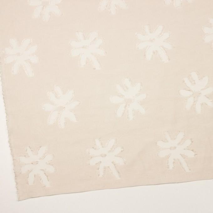 レーヨン&ナイロン混×フラワー(エクリュ)×オーガンジー・カットジャガード イメージ2