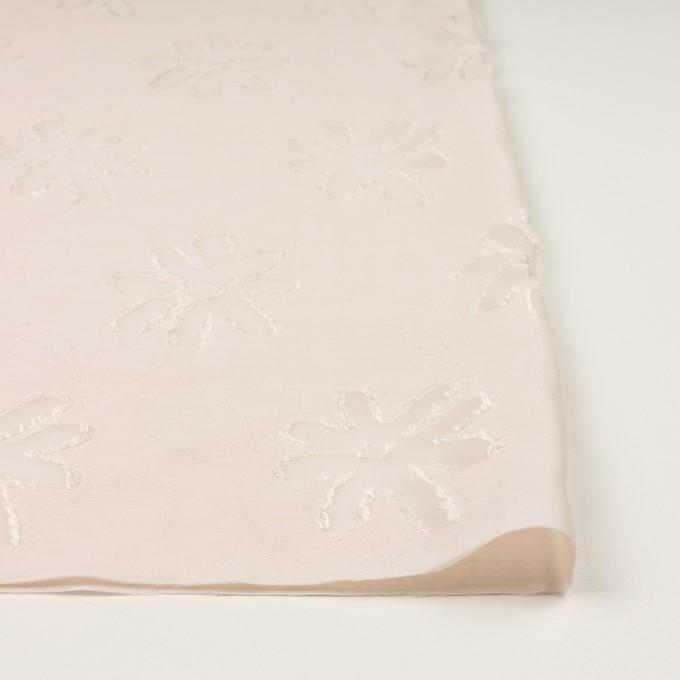 レーヨン&ナイロン混×フラワー(エクリュ)×オーガンジー・カットジャガード イメージ3