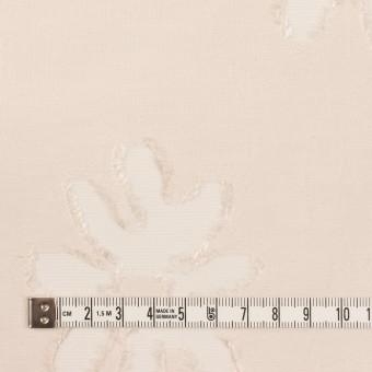 レーヨン&ナイロン混×フラワー(エクリュ)×オーガンジー・カットジャガード サムネイル4