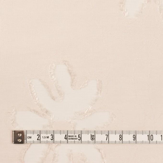 レーヨン&ナイロン混×フラワー(エクリュ)×オーガンジー・カットジャガード イメージ4