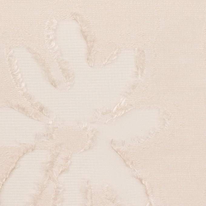 レーヨン&ナイロン混×フラワー(エクリュ)×オーガンジー・カットジャガード イメージ1