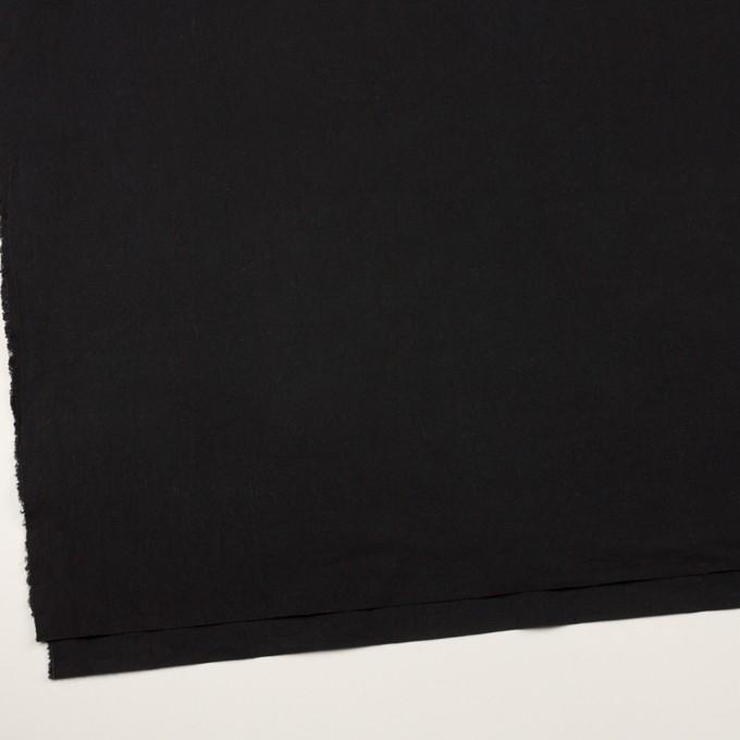 コットン×無地(ブラック)×高密ブロードワッシャー_全2色 イメージ2