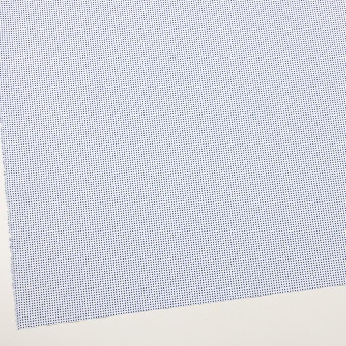 コットン×ドット(ホワイト&ブルー)×ブロード_全2色 イメージ2