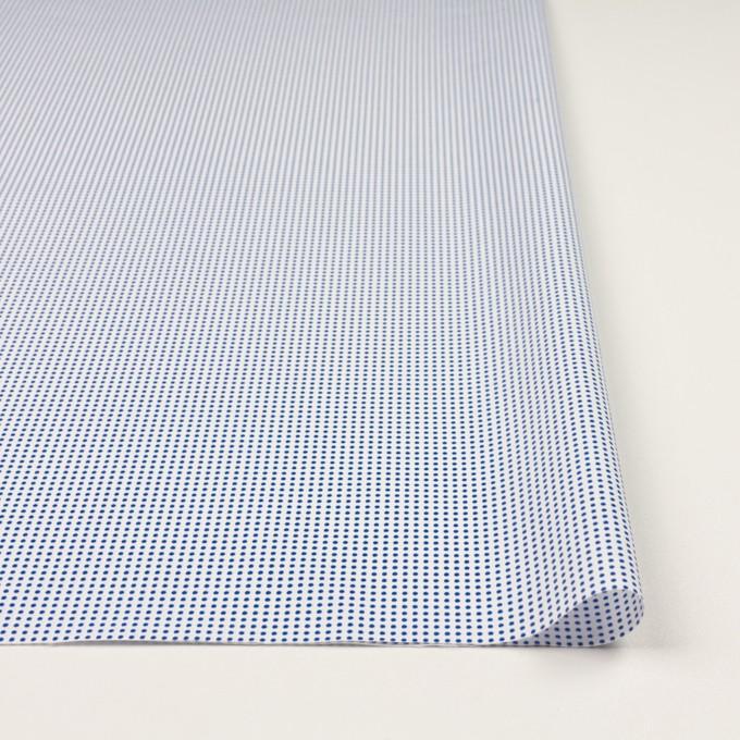 コットン×ドット(ホワイト&ブルー)×ブロード_全2色 イメージ3