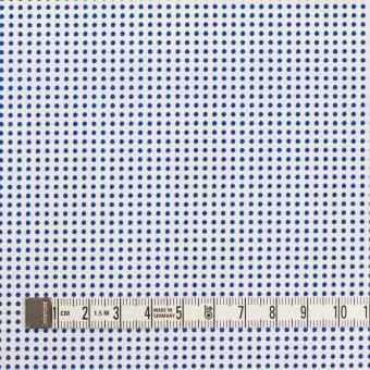 コットン×ドット(ホワイト&ブルー)×ブロード_全2色 サムネイル4
