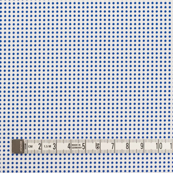 コットン×ドット(ホワイト&ブルー)×ブロード_全2色 イメージ4