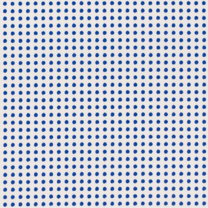 コットン×ドット(ホワイト&ブルー)×ブロード_全2色 イメージ1