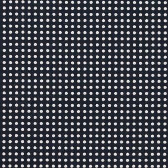コットン×ドット(ダークネイビー&ホワイト)×ブロード_全2色