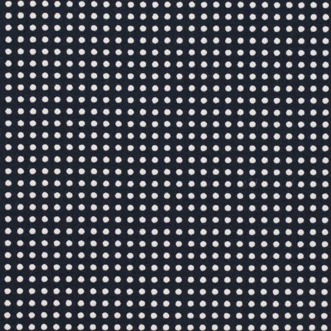 コットン×ドット(ダークネイビー&ホワイト)×ブロード_全2色 イメージ1