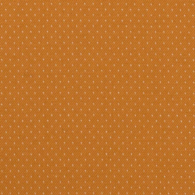 コットン&ポリウレタン×ドット(キャラメル)×ドビーストレッチ イメージ1