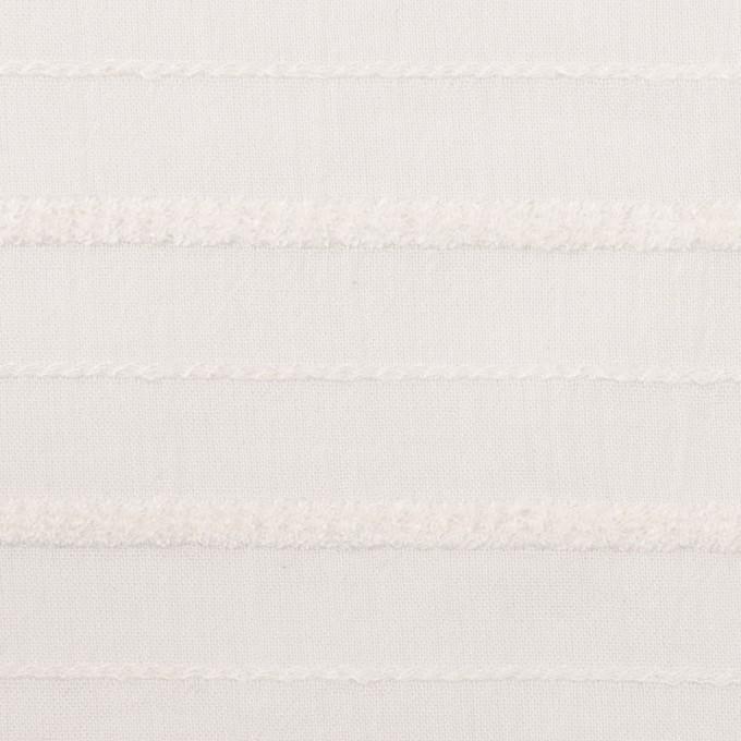 コットン&レーヨン×ボーダー(パールホワイト)×ボイルジャガード イメージ1
