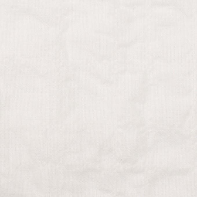 コットン&ポリウレタン×無地(オフホワイト)×ボイルシャーリング イメージ1