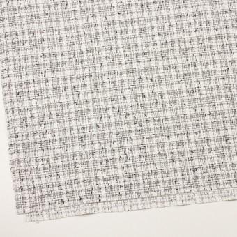 コットン&ポリエステル混×ミックス(オフホワイト&ブラック)×ファンシーツイード・ストレッチ サムネイル2
